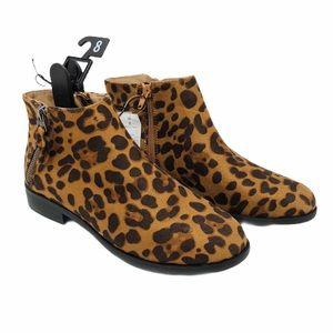 (SH-123) Time And Tru Block Heels Leopard Sz 8